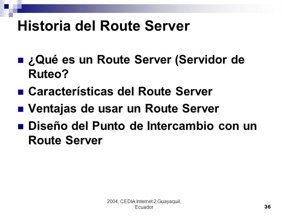 Historia del Route Server