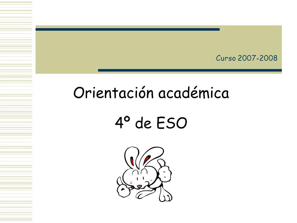 Orientación académica 4º de ESO