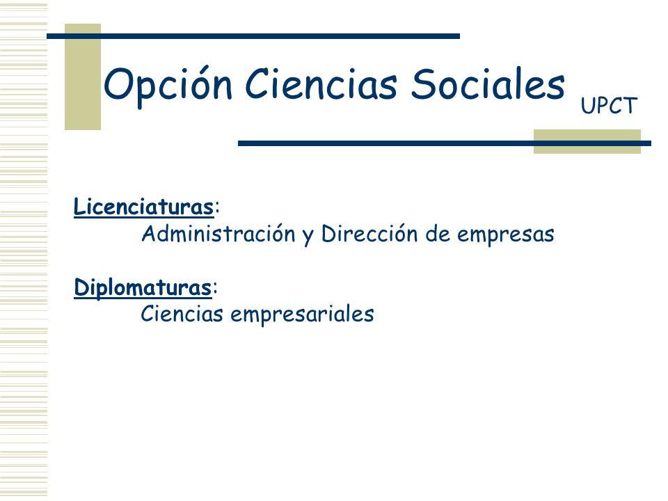 Opción Ciencias Sociales