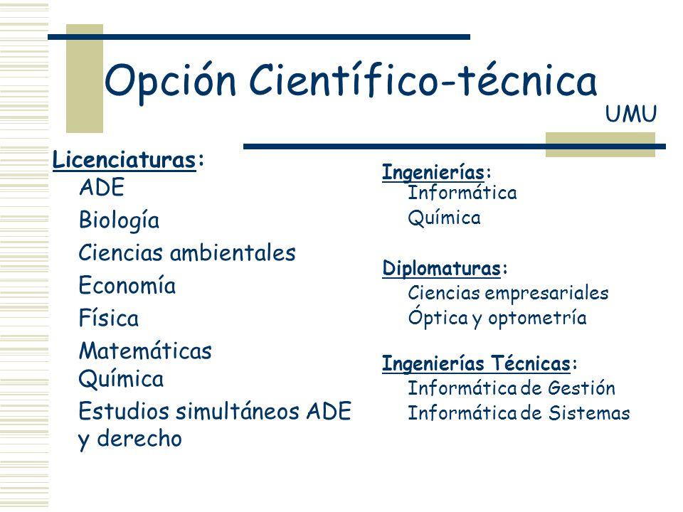 Opción Científico-técnica
