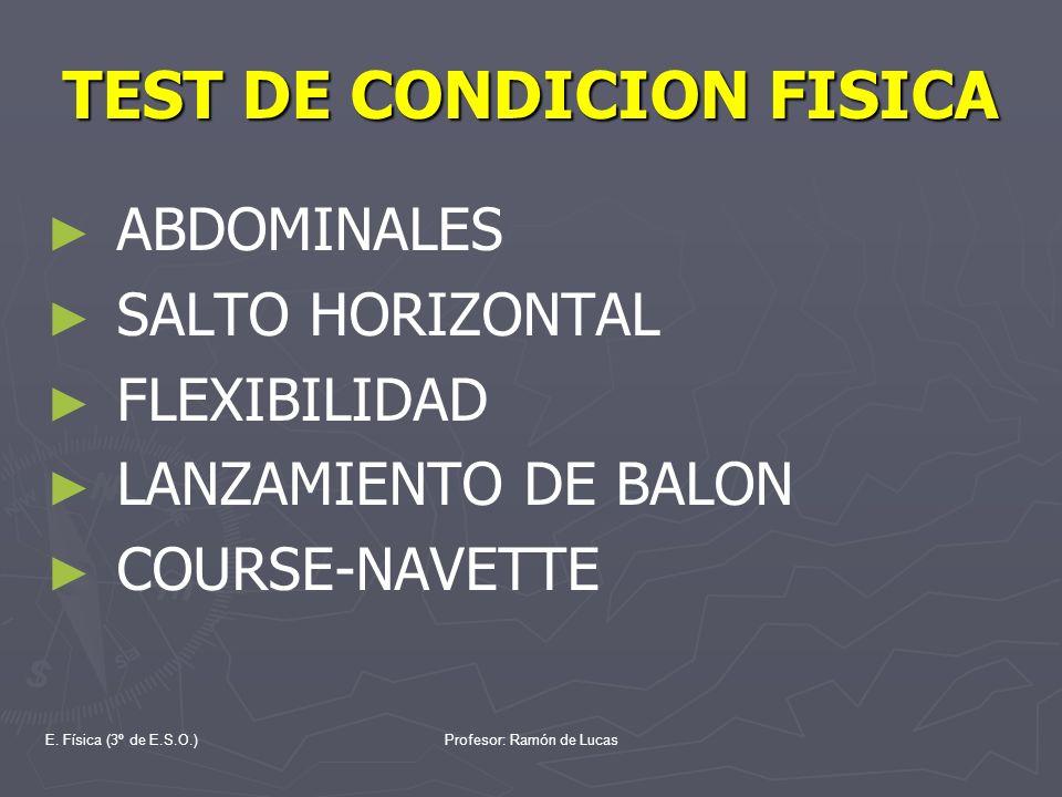 TEST DE CONDICION FISICA