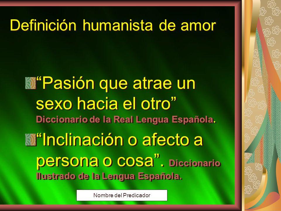 Definición humanista de amor