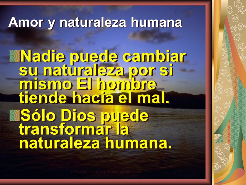 Amor y naturaleza humana