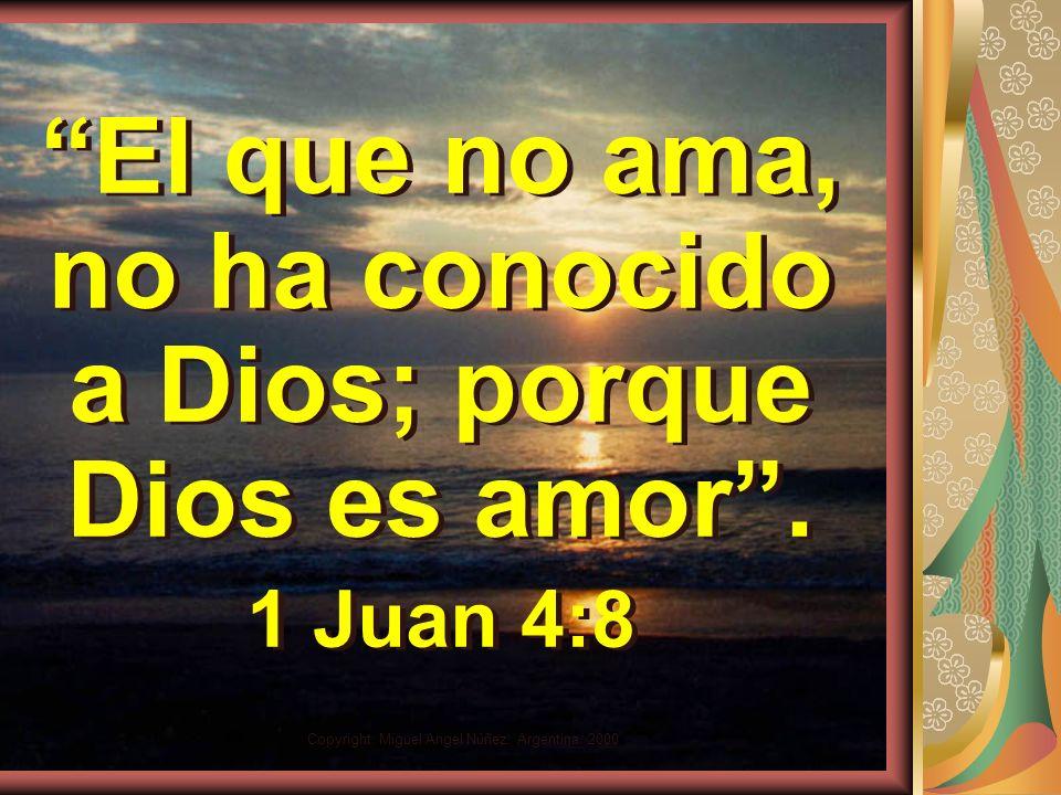 El que no ama, no ha conocido a Dios; porque Dios es amor .