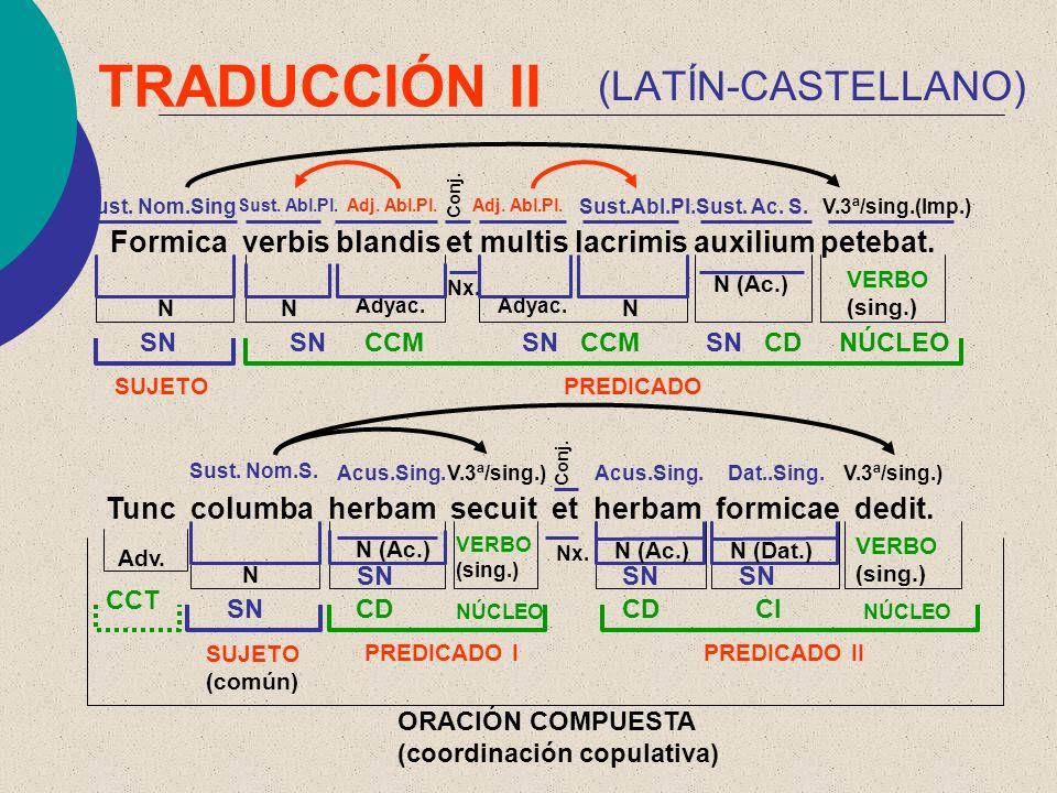 TRADUCCIÓN II (LATÍN-CASTELLANO)