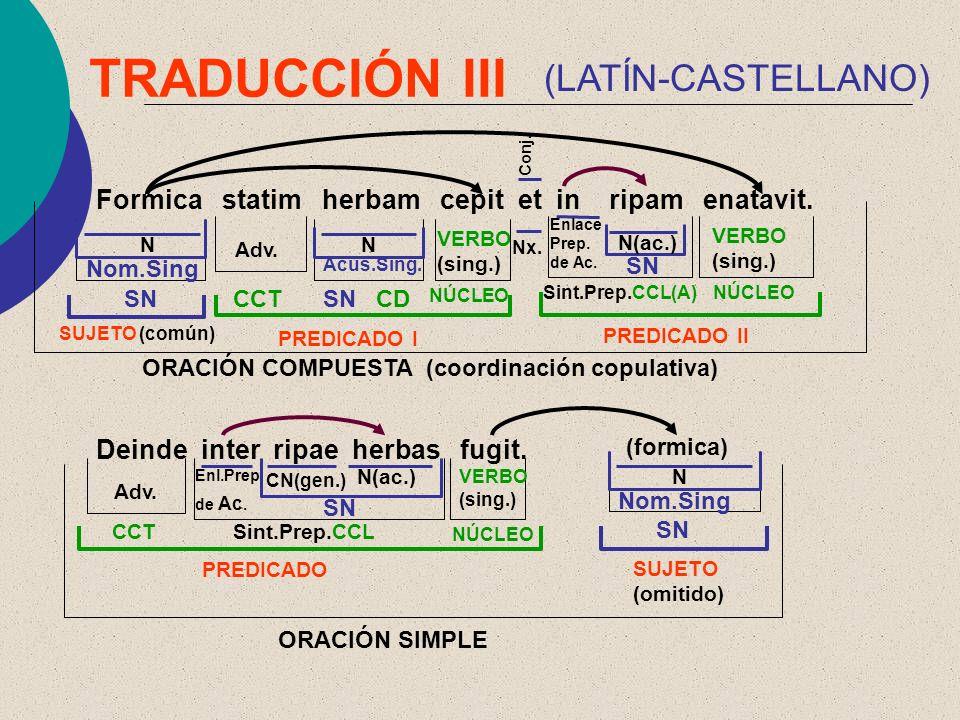 TRADUCCIÓN III (LATÍN-CASTELLANO)