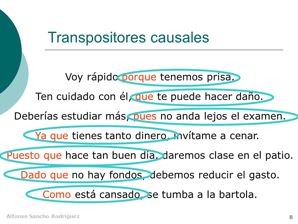 Transpositores causales