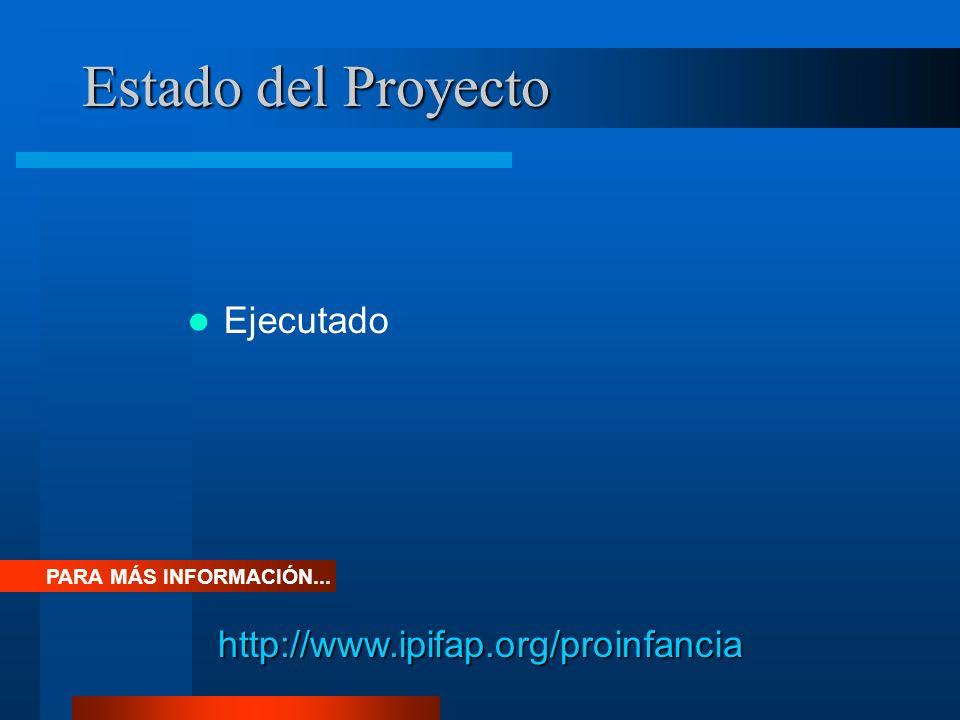 Estado del Proyecto Ejecutado http://www.ipifap.org/proinfancia