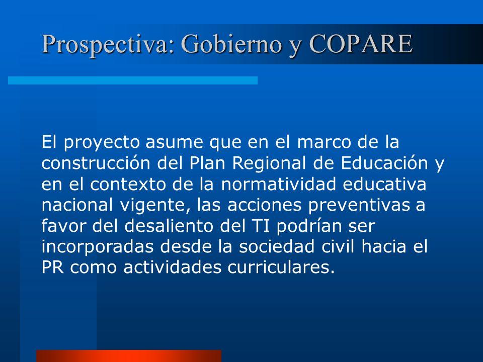 Prospectiva: Gobierno y COPARE