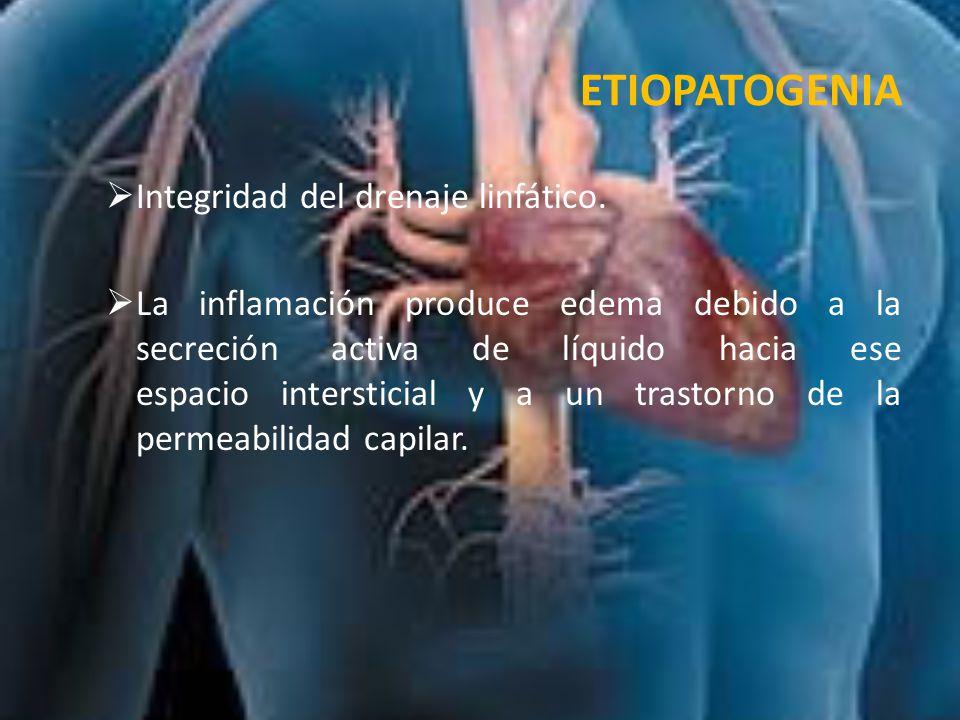 ETIOPATOGENIA Integridad del drenaje linfático.