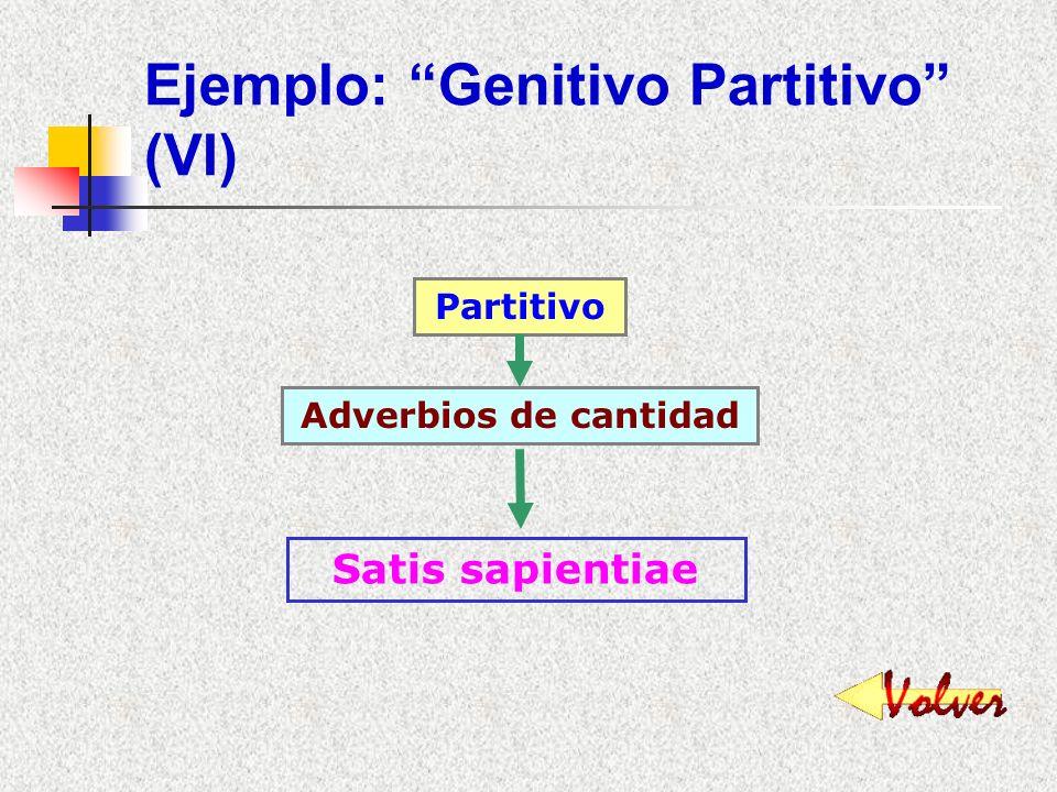 Ejemplo: Genitivo Partitivo (VI)