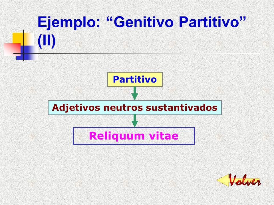 Ejemplo: Genitivo Partitivo (II)