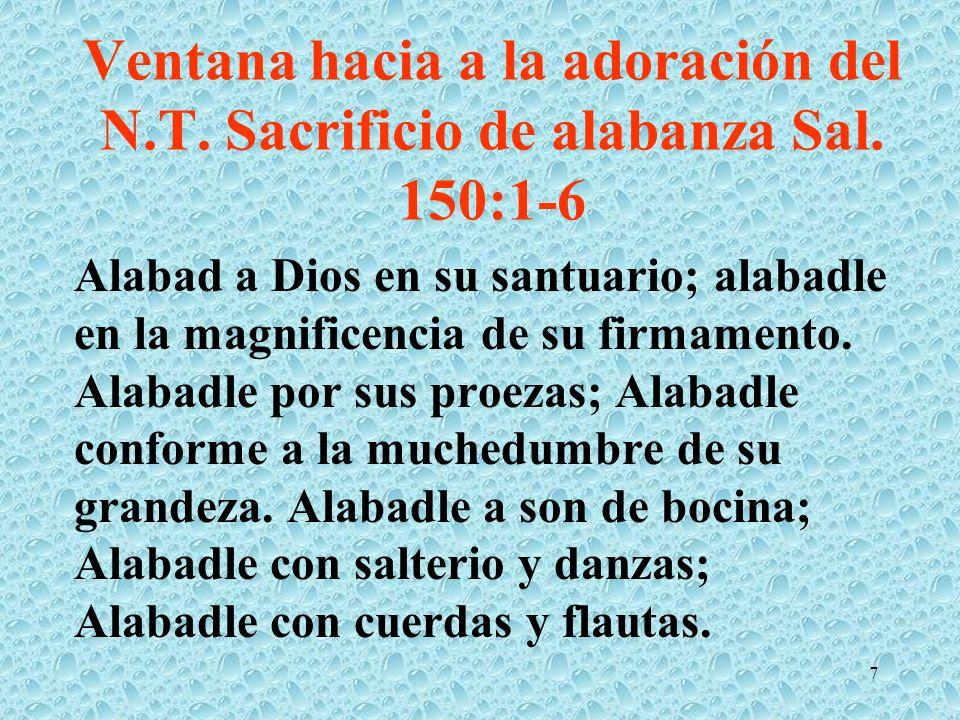Ventana hacia a la adoración del N. T. Sacrificio de alabanza Sal