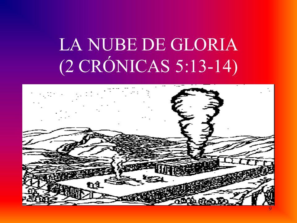 LA NUBE DE GLORIA (2 CRÓNICAS 5:13-14)