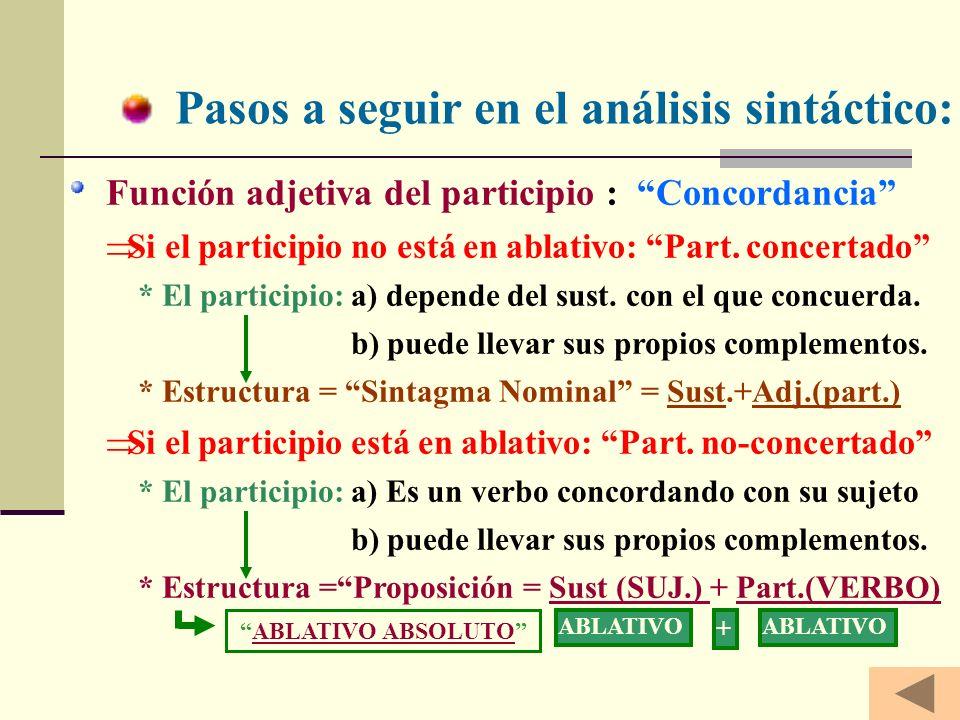 Pasos a seguir en el análisis sintáctico: