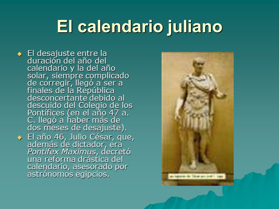 El calendario juliano