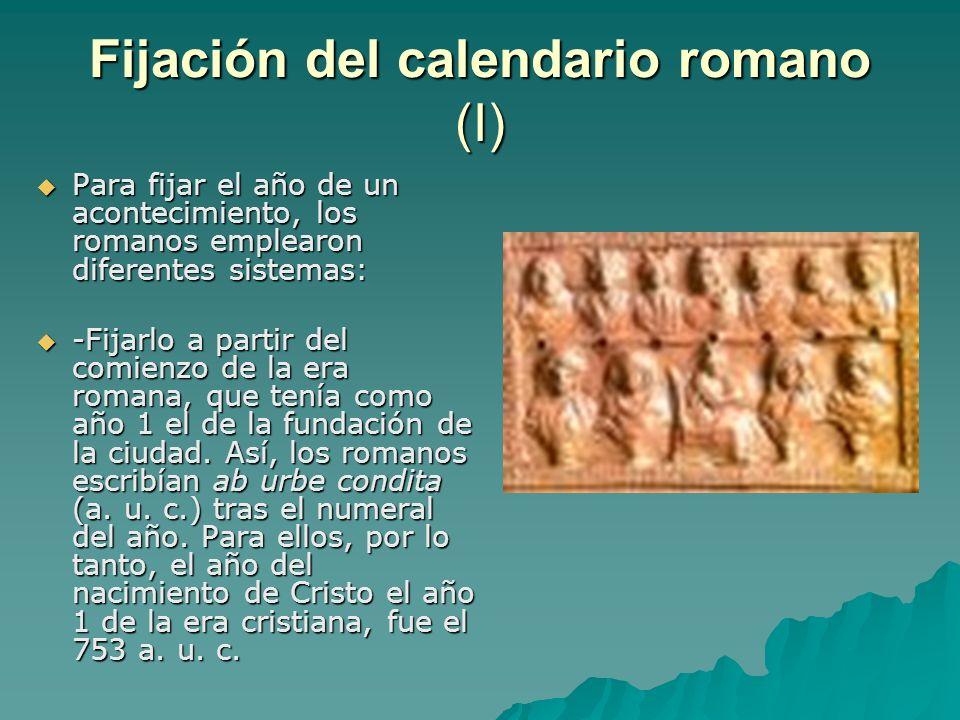 Fijación del calendario romano (I)