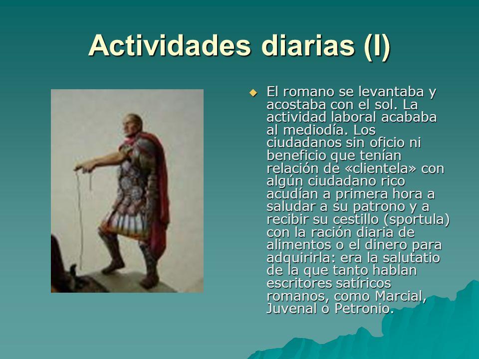 Actividades diarias (I)