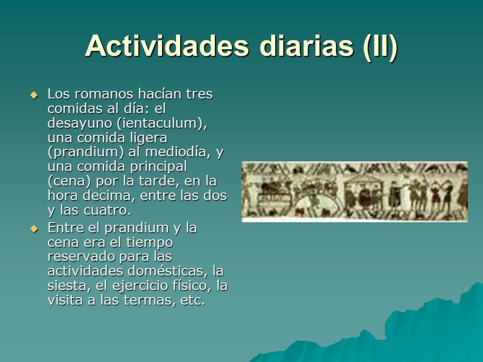 Actividades diarias (II)