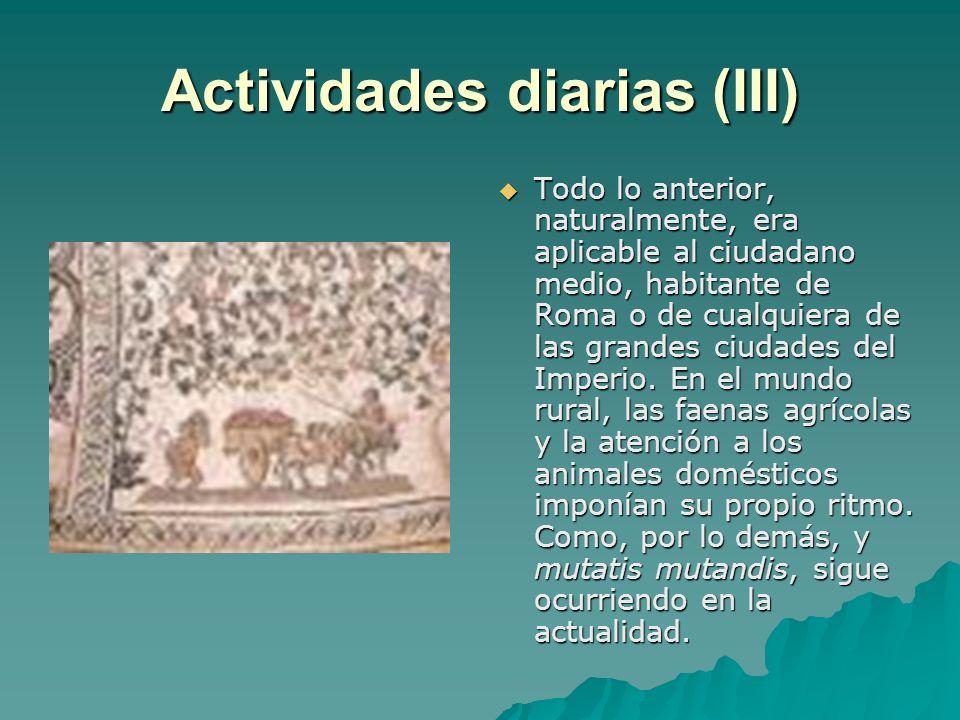 Actividades diarias (III)