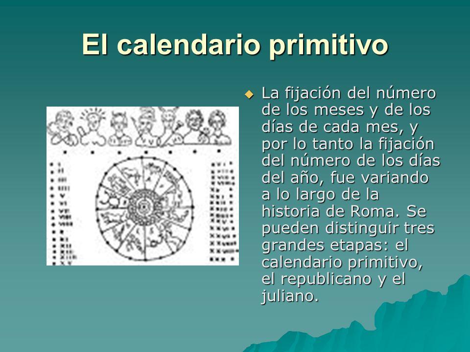 El calendario primitivo
