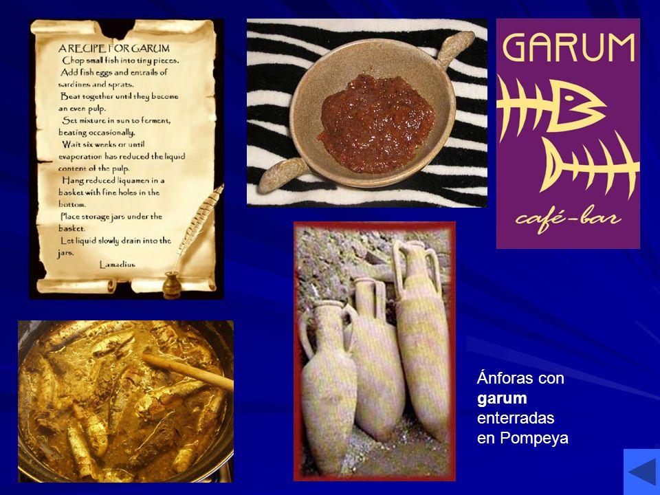 Ánforas con garum enterradas en Pompeya