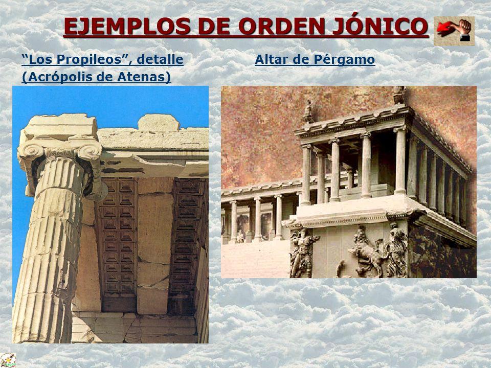 EJEMPLOS DE ORDEN JÓNICO