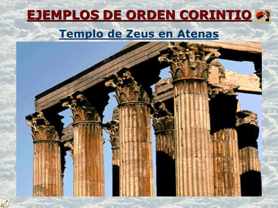 EJEMPLOS DE ORDEN CORINTIO