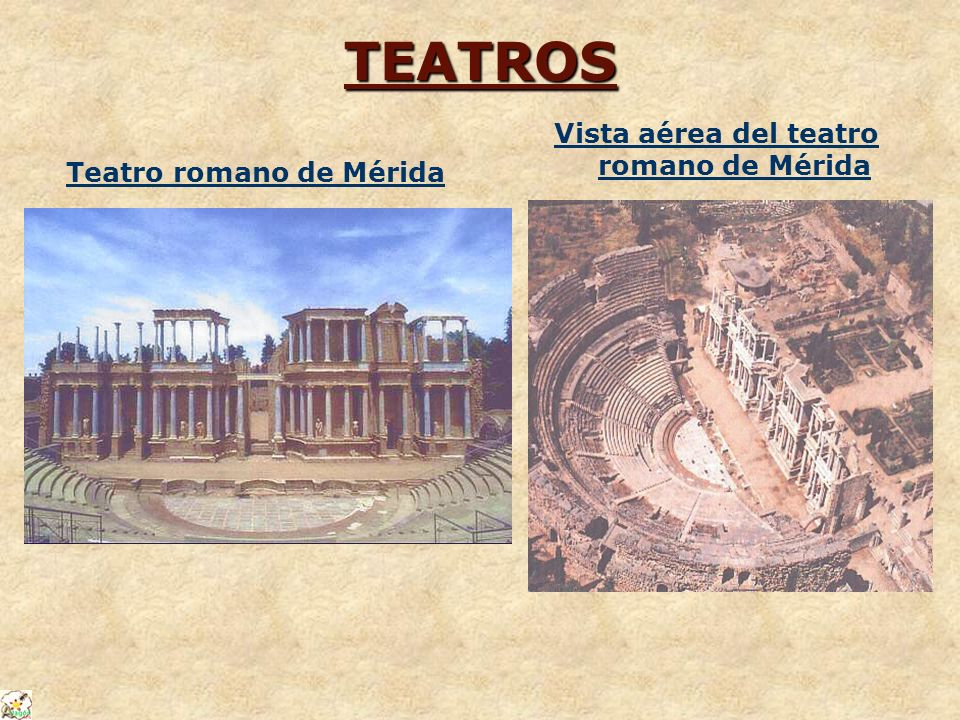 Vista aérea del teatro romano de Mérida