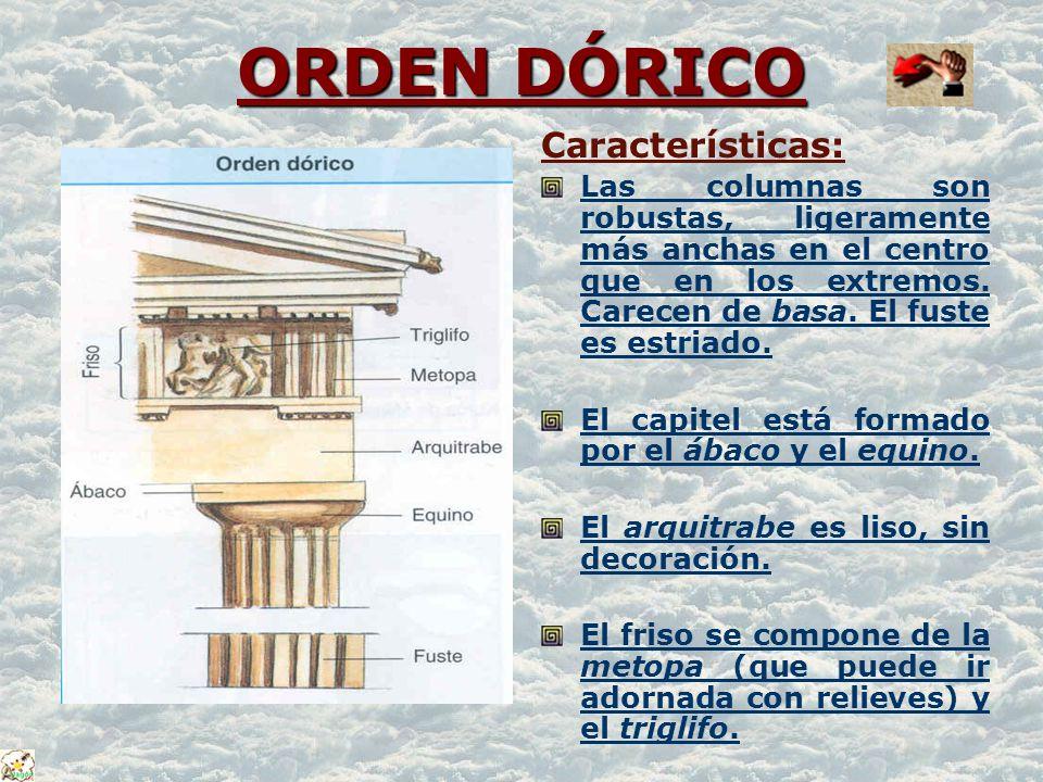 ORDEN DÓRICO Características: