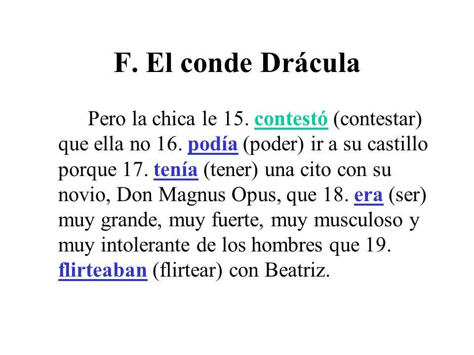 F. El conde Drácula