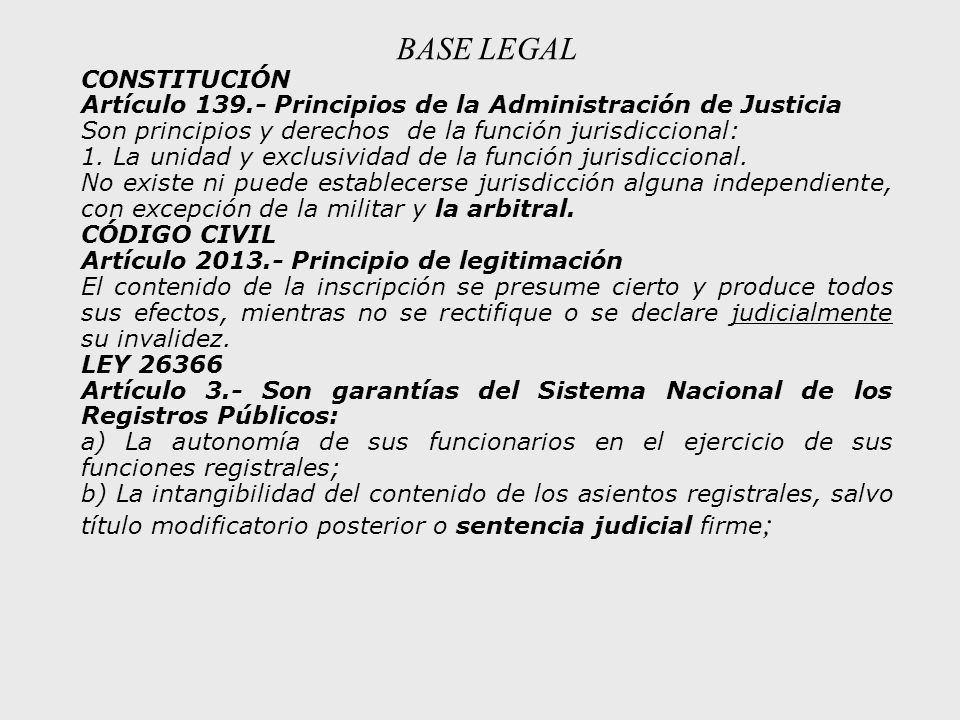 BASE LEGAL CONSTITUCIÓN