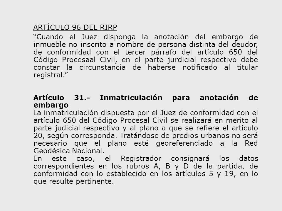 ARTÍCULO 96 DEL RIRP