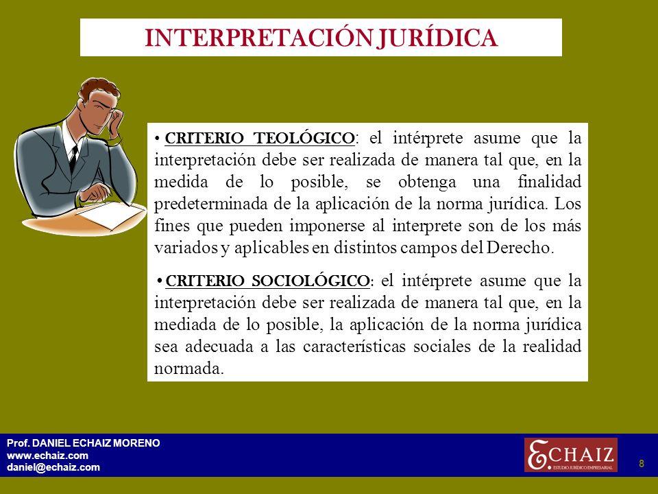 INTERPRETACIÓN JURÍDICA