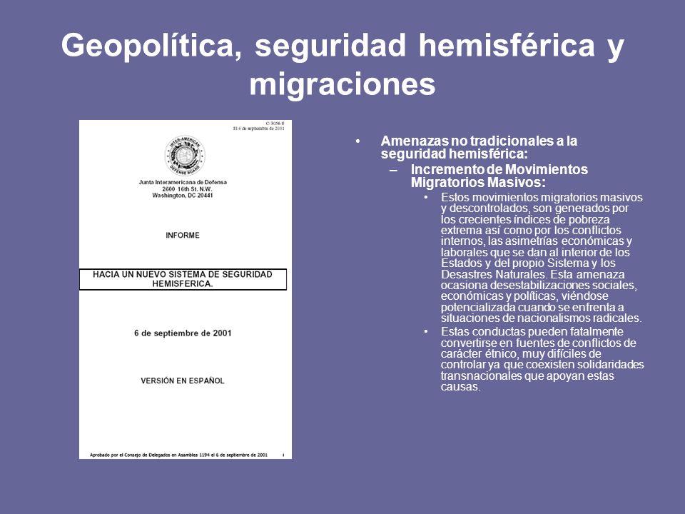 Geopolítica, seguridad hemisférica y migraciones