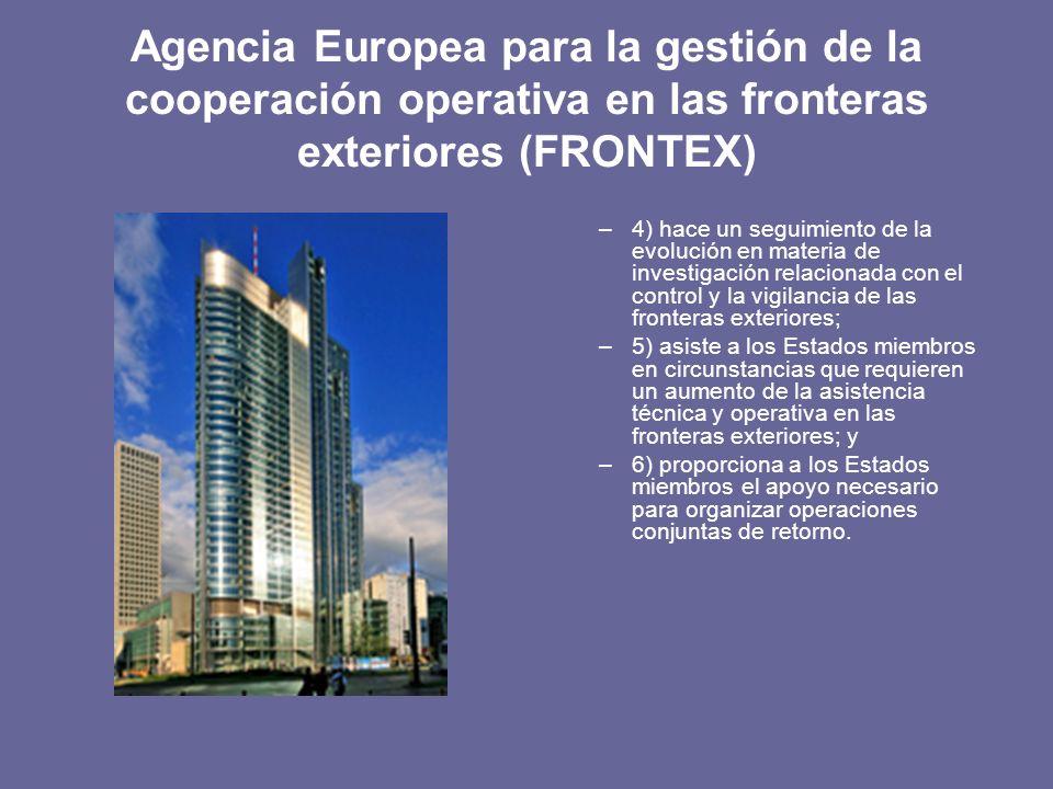 Agencia Europea para la gestión de la cooperación operativa en las fronteras exteriores (FRONTEX)