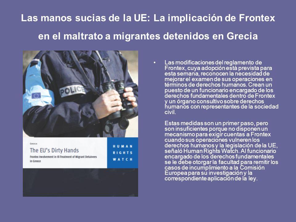 Las manos sucias de la UE: La implicación de Frontex en el maltrato a migrantes detenidos en Grecia