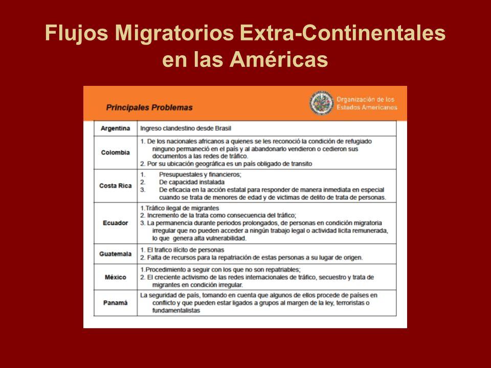 Flujos Migratorios Extra-Continentales en las Américas