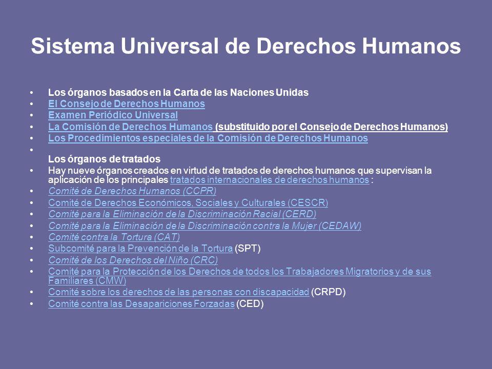 Sistema Universal de Derechos Humanos