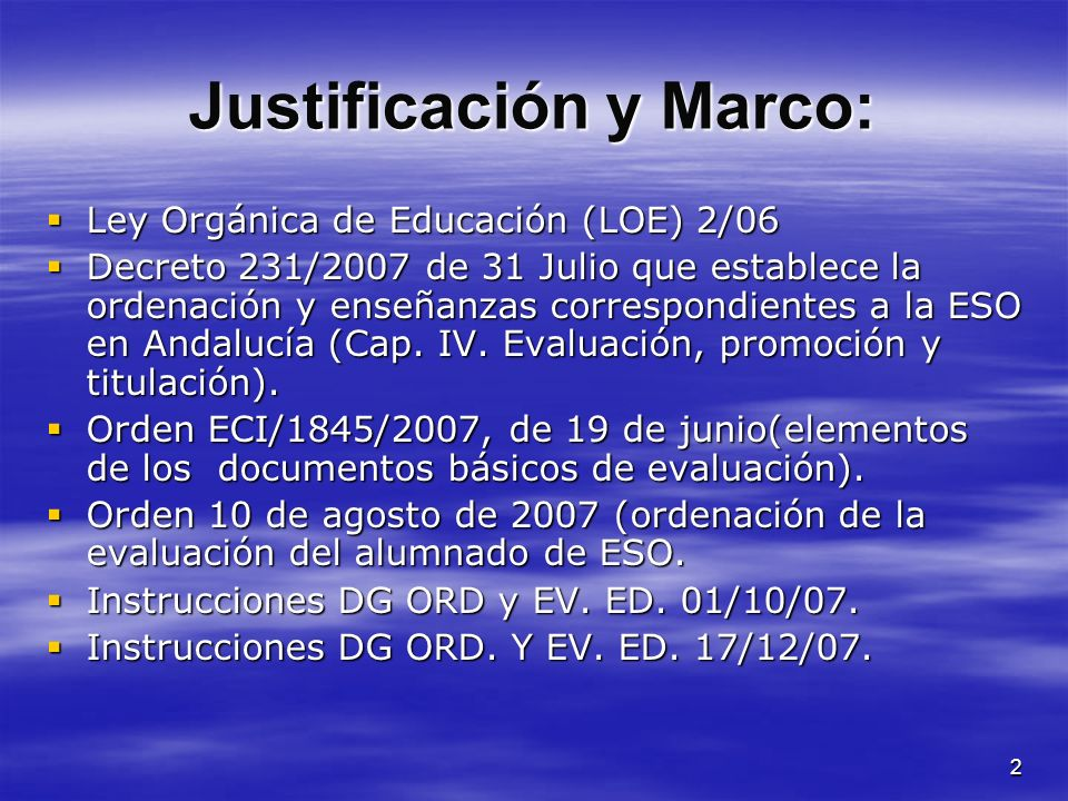 Justificación y Marco: