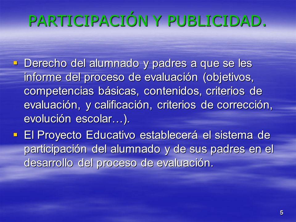 PARTICIPACIÓN Y PUBLICIDAD.