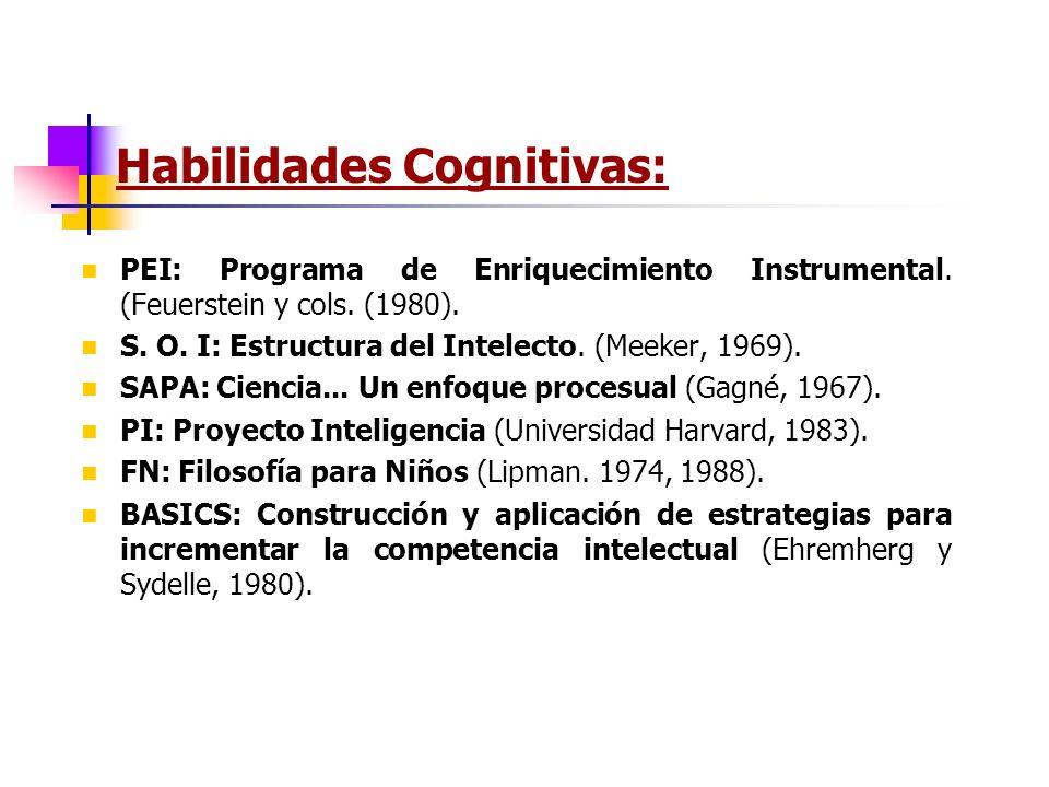 Habilidades Cognitivas: