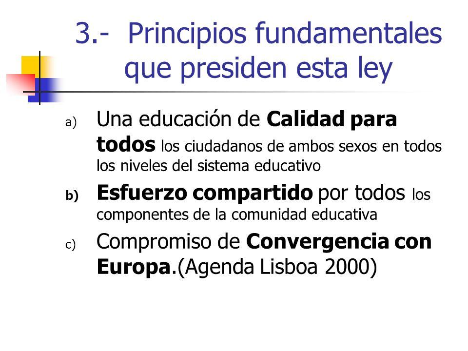 3.- Principios fundamentales que presiden esta ley