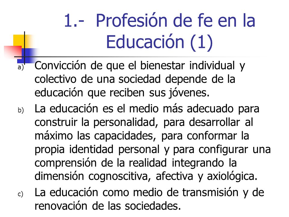 1.- Profesión de fe en la Educación (1)