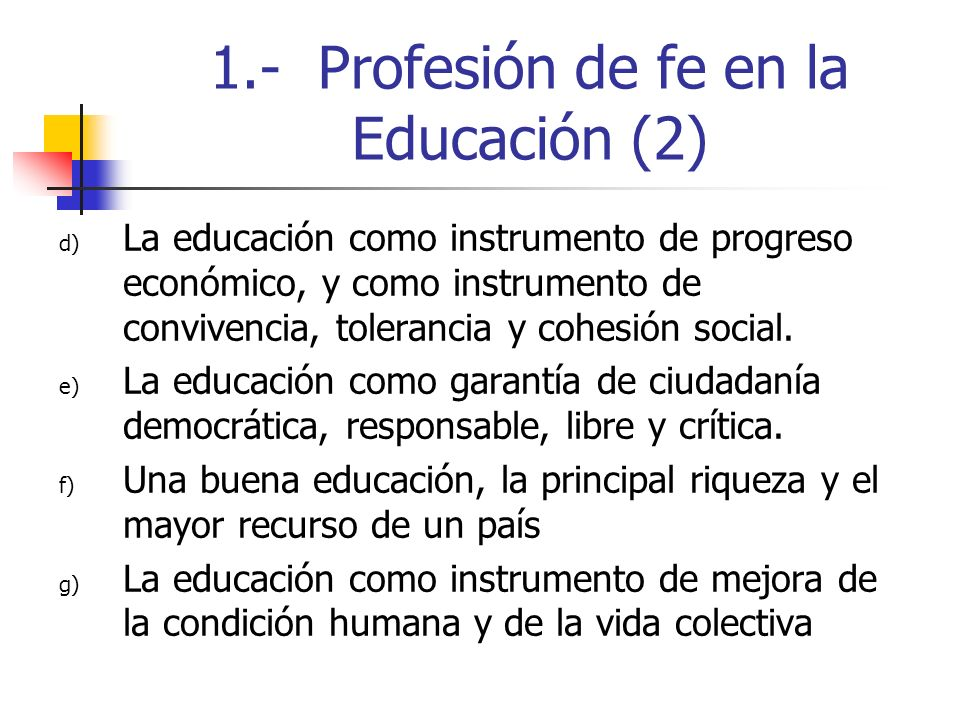 1.- Profesión de fe en la Educación (2)