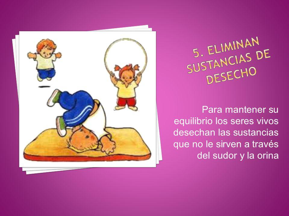 5. Eliminan sustancias de desecho