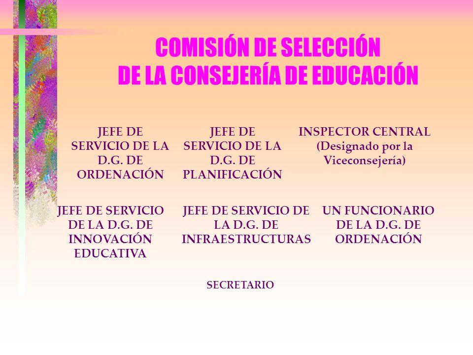 COMISIÓN DE SELECCIÓN DE LA CONSEJERÍA DE EDUCACIÓN