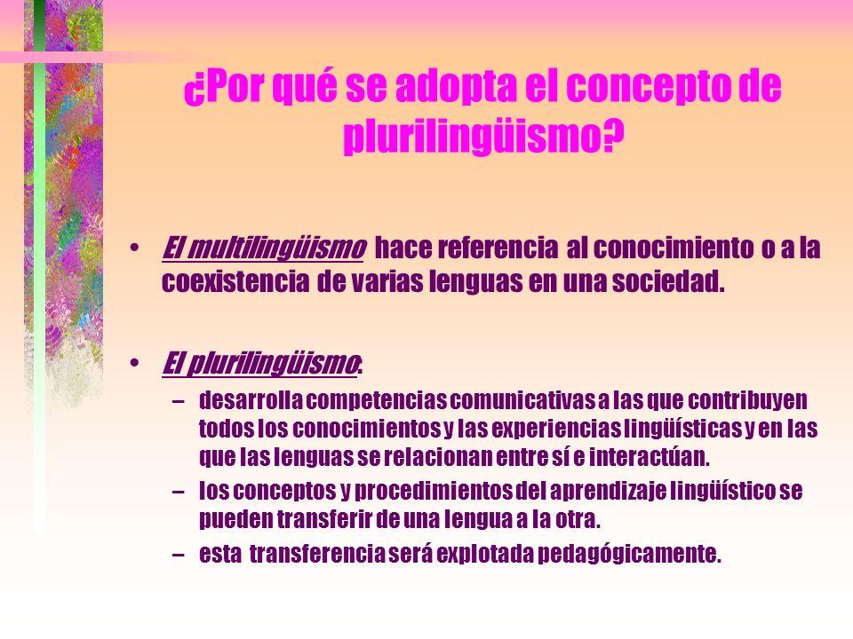 ¿Por qué se adopta el concepto de plurilingüismo