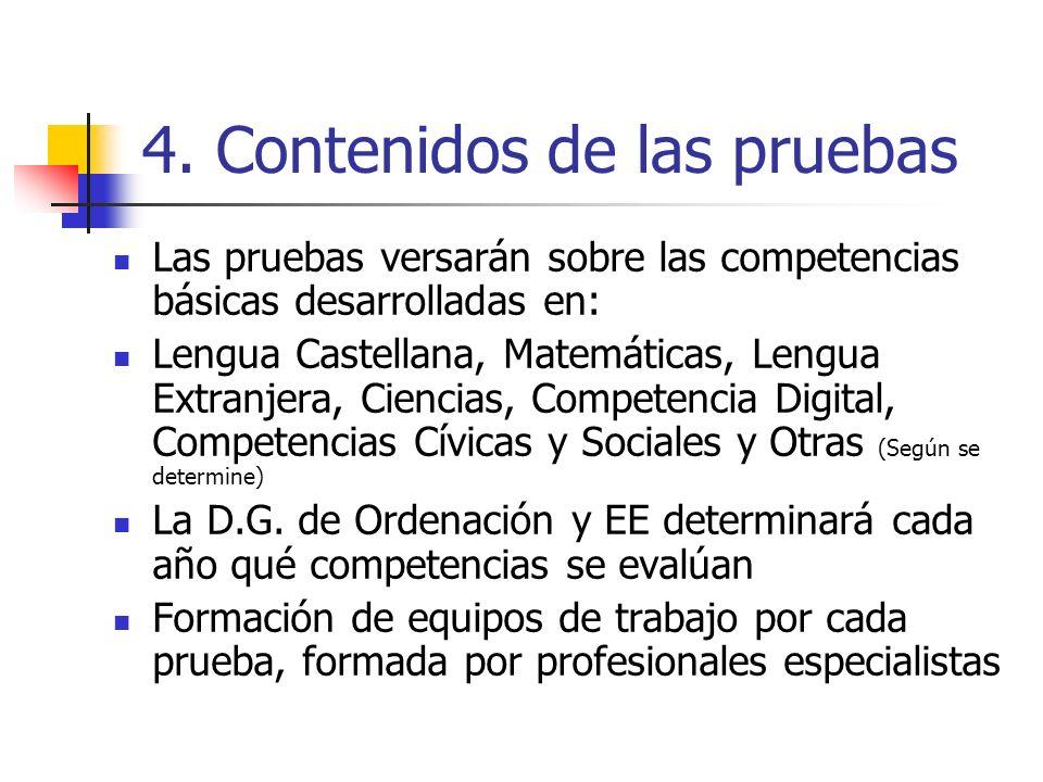 4. Contenidos de las pruebas