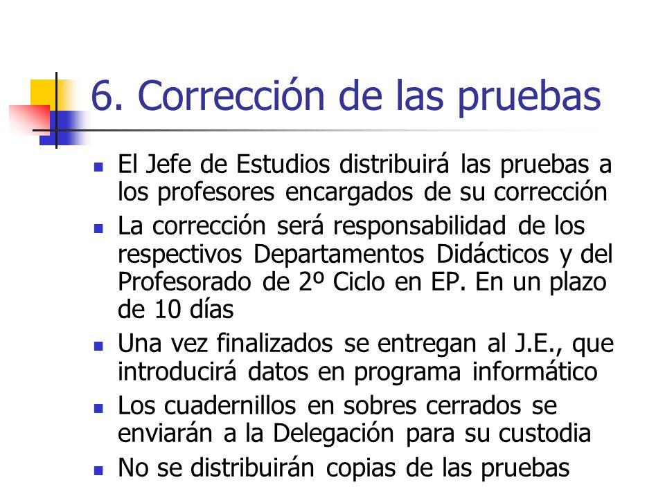 6. Corrección de las pruebas
